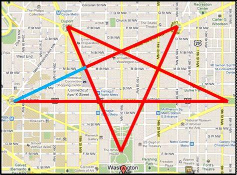 washington dc map pentagram freemasonry and our history