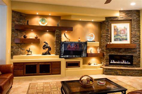 custom full wall unit with accented fireplace moda custom media walls entertainment centers tcd phoenix