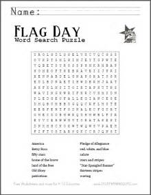 free printable word search puzzle for flag day scroll