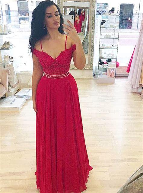 red prom dresses  strapselegant prom dress