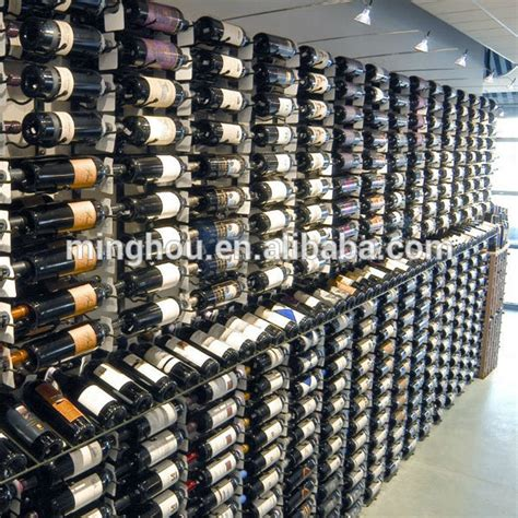 wine cellar design commercial wine rack metal wall mounted