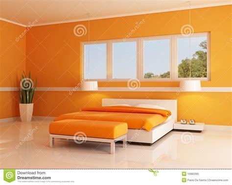 da letto arancione da letto arancione moderna fotografia stock libera