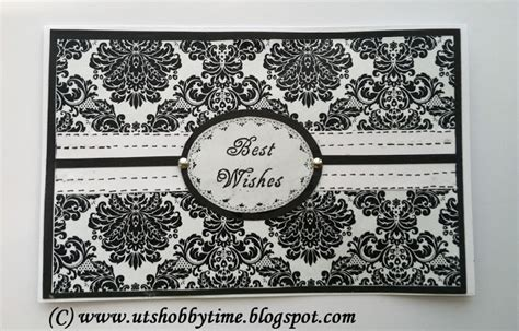 Best Wishes Handmade Cards - uts hobby time handmade black white greeting card