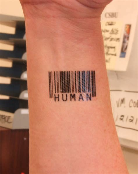 bar tattoos 15 unique barcode designs