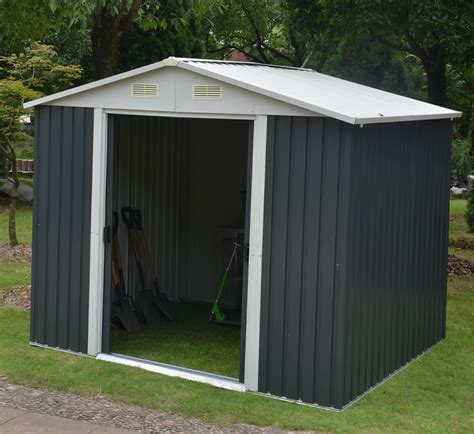 Aluminum Sheds by Buying A Metal Shed Advice And Fitting Tuin Tuindeco