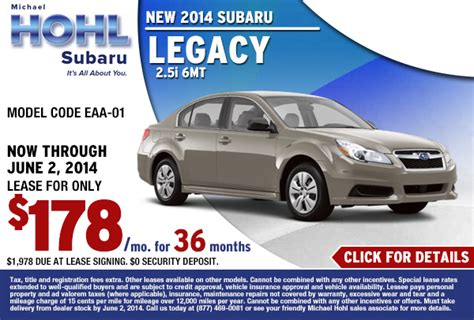 new subaru finance special offers incentives carson