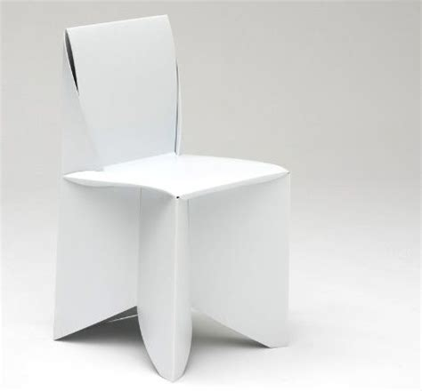 Paper Folding Chair - folder origami paper chair in white chair stuhl