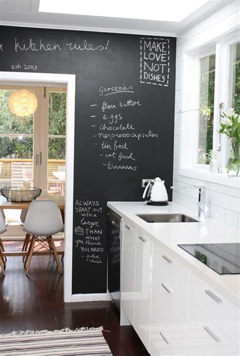 35 Creative Chalkboard Ideas For Kitchen Décor   DigsDigs