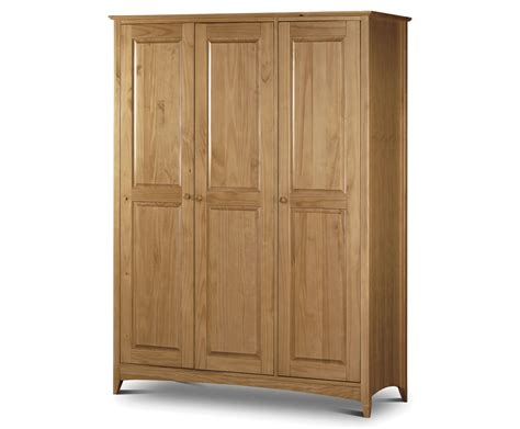Pine Wardrobe Uk by Kendal 3 Door Solid Pine Wardrobe