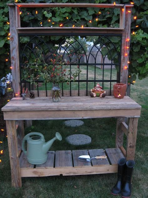 outdoor indoor bench for bar old fences fence panels and potting tables on pinterest