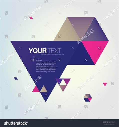 Kalung Fashion Minimlaist With Empty Triangle abstract color triangles text box design stock vector