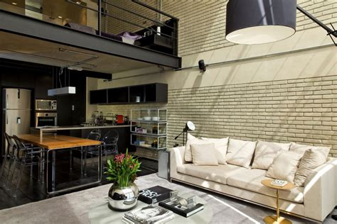 decorating a loft industrial chic loft features the ideal match between