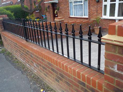 wall top railings spirals castings