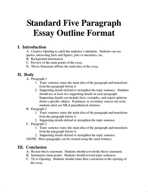5 Paragraph Essay Exle by 8 1 Paragraph Essay Format Basic Appication Letter