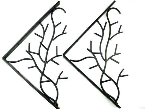 decorative metal wall brackets pair of iron metal branch decorative wall shelf brackets