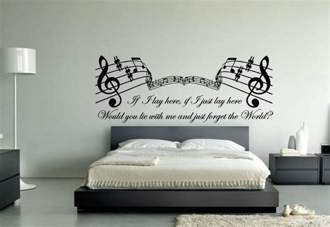 headboard lyrics latest music themed wall art ideas for bedroom home