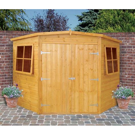 Doors For Garden Sheds by Shire Corner Shed Doors Low Roof