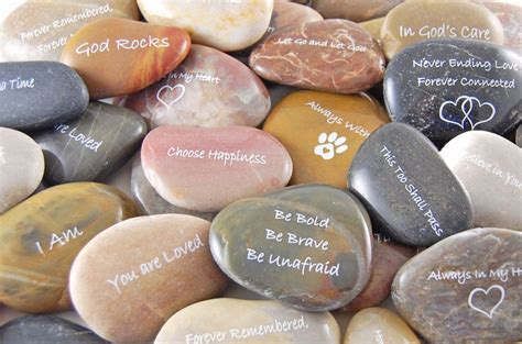 engraved river rocks inspirational sayings and phrases