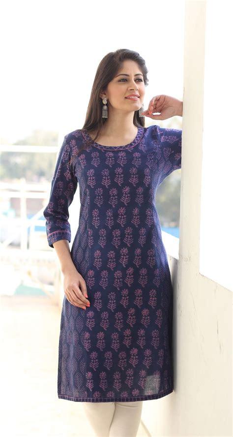 print pattern kurti printed kurta blue dress pinterest dubai
