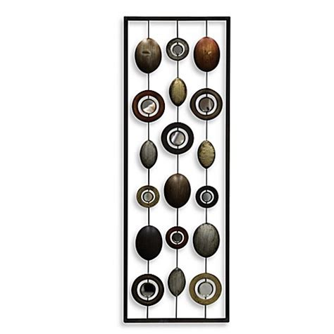 bed bath beyond wall decor metal mirror wall decor in circle panel i bed bath beyond