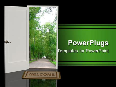 welcome powerpoint template best welcome powerpoint template door open in the real