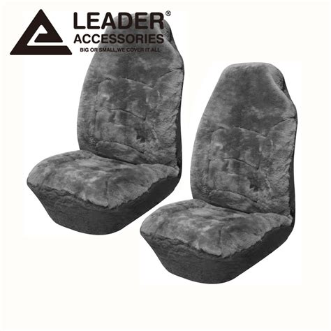 fit seat covers seat cover universal 2pc front australian sheepskin