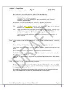 department policy template template credit policy and related sops pdf 1