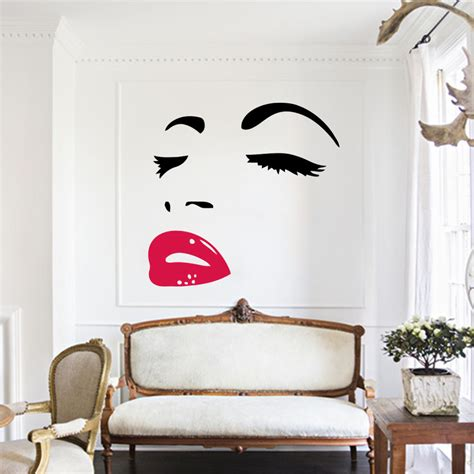 wall stickers decoration for home sexy art home decor wall sticker mural decal marilyn