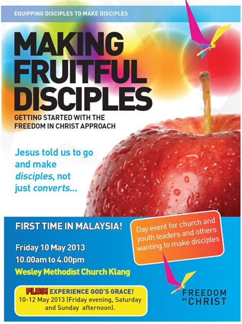 fruitful discipleship living the making fruitful disciples conference wesley methodist church klang
