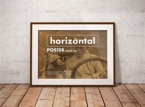 poster design horizontal poster mockup horizontal wroc awski informator