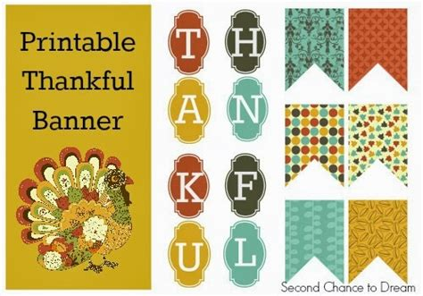 printable free thanksgiving banner menu plan monday nov 4 13