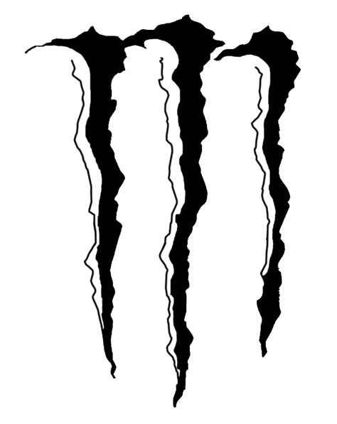 Monster Energy Sticker Schwarz by Monster Energy Logo Stencil Cliparts Co