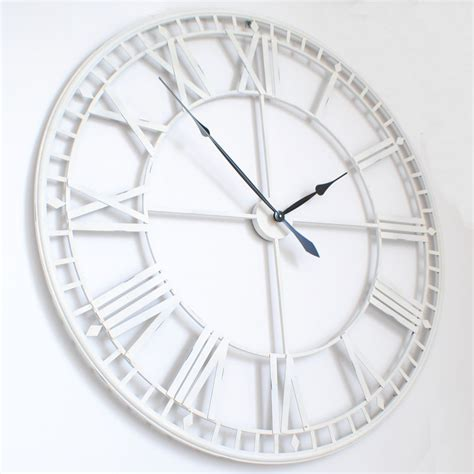 Modern Wall Clock by Large Roman Big Vintagewhite Skeleton Wall Clock