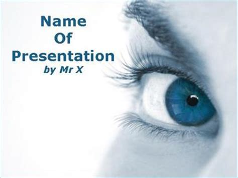 powerpoint templates ophthalmology free close up blue eye powerpoint template