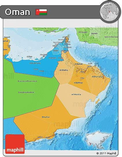 political map of oman free political shades 3d map of oman
