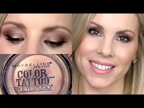 maybelline color tattoo bad to the bronze eyeshadow tutorial bad to the bronze maybelline color