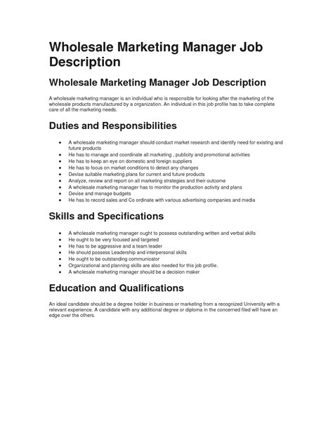 sample supervisor job description 8 examples in pdf