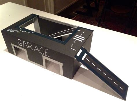 How To Make A Shoe Box Out Of Paper - i made this garage and car track out of a shoe box really