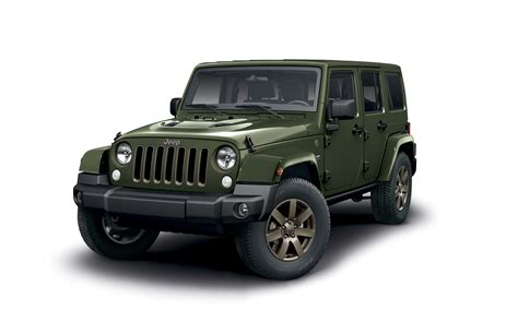 fiat jeep wrangler jeep announces 75th anniversary wrangler press