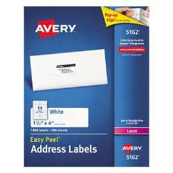 avery 5162 laser address labels 1 1 3 x 4 quot white