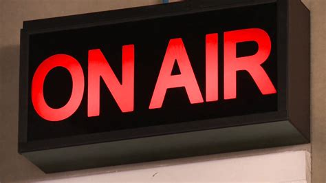On Air In on air light on and stock footage videoblocks