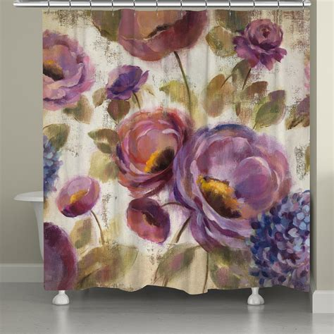 Purple Flower Shower Curtain by Blue And Purple Flower Song Shower Curtain Laural Home