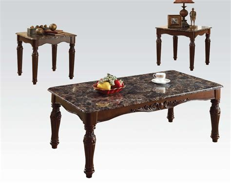 3 pc coffee and end tables acme 3pc coffee end table set 80322