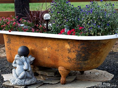 bathtub planters diy bathtub flower planter a pretty happy home