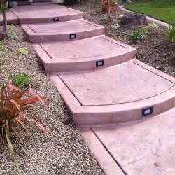 Stamped concrete front steps pink pinterest