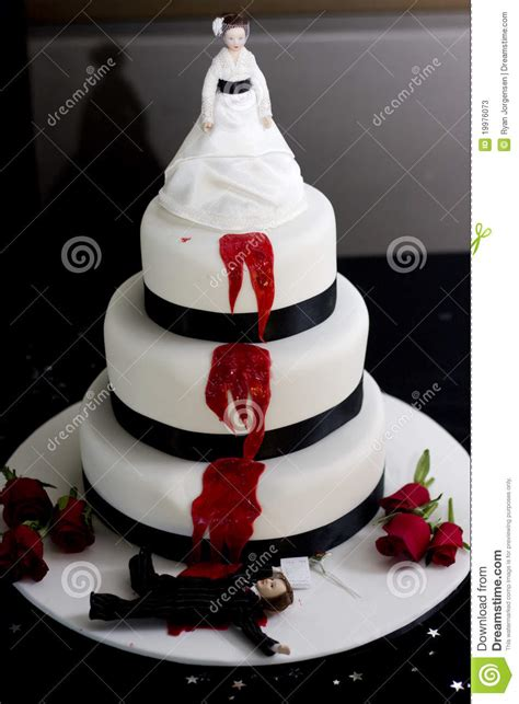 killer bride wedding cake stock image image  food