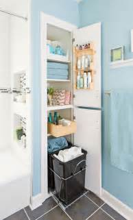 Bathroom Closet Storage Ideas by Storage Packed Small Bathroom Makeover Traditional