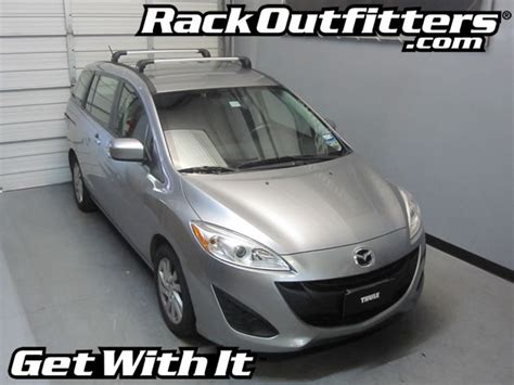 rack outfitters new mazda mazda5 thule silver aeroblade