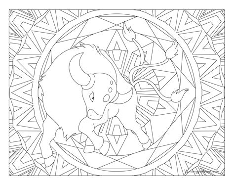 pokemon coloring pages for adults pokemon tauros coloring pages images pokemon images