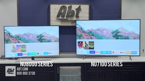 Samsung Nu8000 Samsung Tv Comparison Nu8000 Series Vs Nu7100 Series
